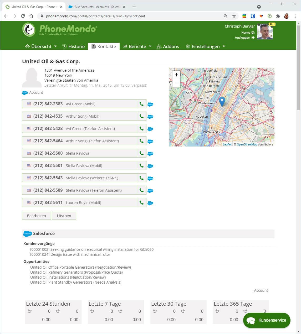 Salesforce Daten in PhoneMondo